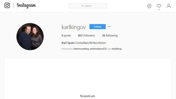 Karl's Instagram