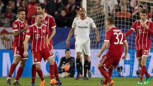 Bayern Munich bring two away goals to the second leg