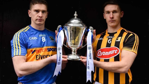 Brendan Maher and Cillian Buckley with the Division 1 trophy