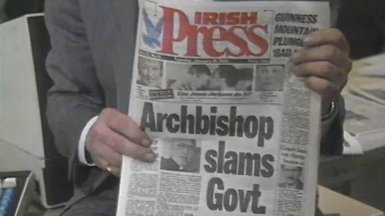 Tabloid format of the Irish Press (1988)