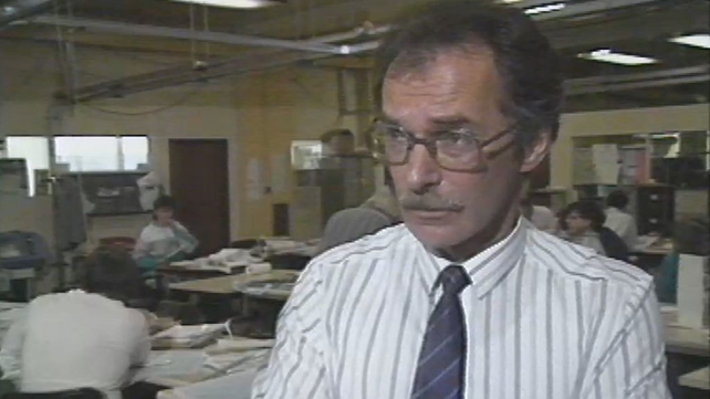 Editor of the Irish Press Hugh Lambert (1988)