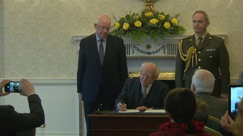 The pardon was signed by President Michael D Higgins