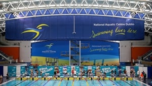 The National Aquatic Centre during today's event
