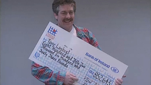 Former Saw Doctor Tony Lambert, pictured with his Irish National Lottery win in 1993.