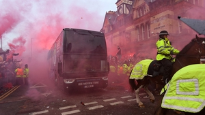 The Manchester City bus was pelted with missiles by supporters outside Anfield