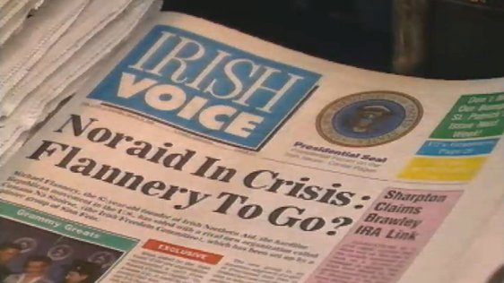 Front page of the Irish Voice newspaper (1988)