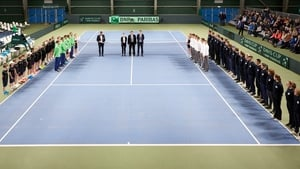 Ireland are taking on Norway at the Oslo Tennis Arena