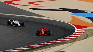 Sebastian Vettel takes Bahrain GP pole
