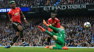 Paul Pogba slots home his first goal