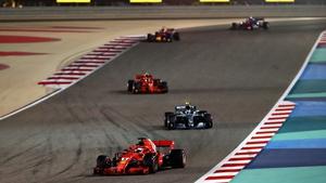 Sebastian Vettel claimed victory in Bahrain
