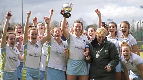 UCD celebrate winning the Irish Senior Cup title