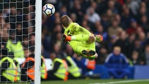 Joe Hart produced two stunning saves for West Ham