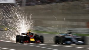 Max Verstappen and Lewis Hamilton collided in Bahrain