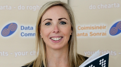 Helen Dixon addressed delegates at the Data Sec 2018 conference at the RDS