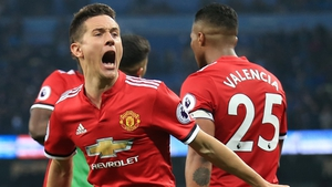 Ander Herrera helped Manchester United to a dramatic win at the Etihad Stadium