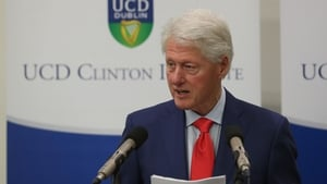 Bill Clinton said the Good Friday Agreement offers a beacon of hope both in Northern Ireland and in the wider world