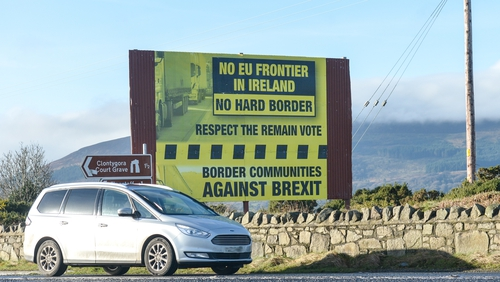 The third option would mean no customs checks on the Irish Sea, or on the Irish border