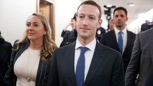 Mark Zuckerberg arrives at Capitol Hill last night to meet US politicians