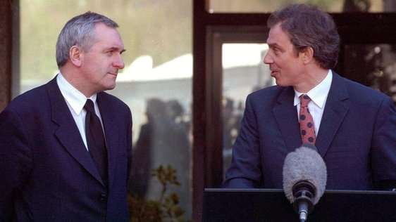 Bertie Ahern and Tony Blair (1998) Getty Images