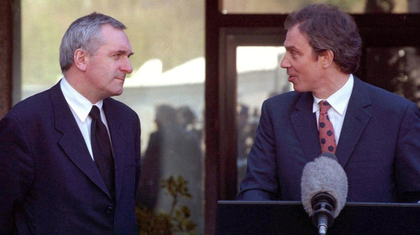 From 1998, then Taoiseach Bertie Ahern and then British prime minister Tony Blair
