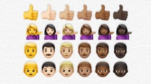 Researchers found most people who chose to modify their emojis opted for a skin tone that aligned with their own