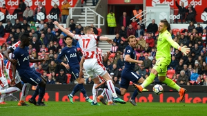 The contested goal flies in against Stoke