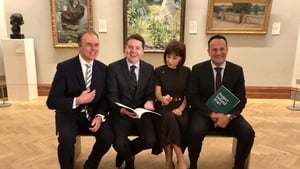 Pictured at today's Project Ireland 2040 announcement: Minister of State Joe McHugh, Minister for Finance Paschal Donohue Minister forCulture, Heritage & the Gaeltacht JosephaMadigan and Taoiseach Leo Varadkar