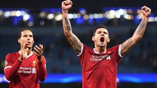 Dejan Lovren and Liverpool are trying to keep their feet on the ground