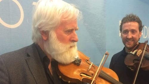 John Sheahan with Colm Mac Con Iomaire, who guests on the album