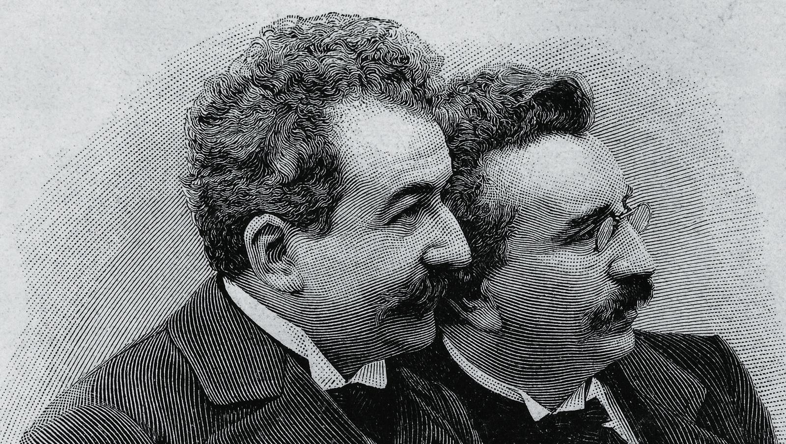 Image - August Lumière (left) and Louis Lumière (right)
