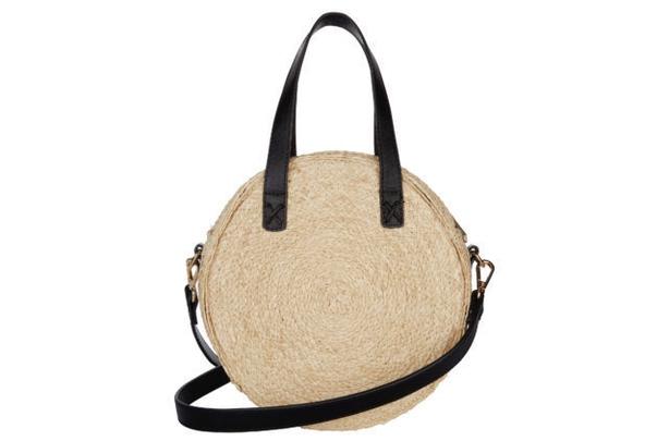 Natural Mini Circle Straw Bag