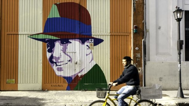 Street art of Carlos Gardel, godfather of tango (Renato GranieriPA)