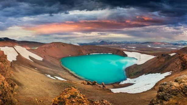Crater of Krafla volcano in northern Iceland (ThinkstockPA)
