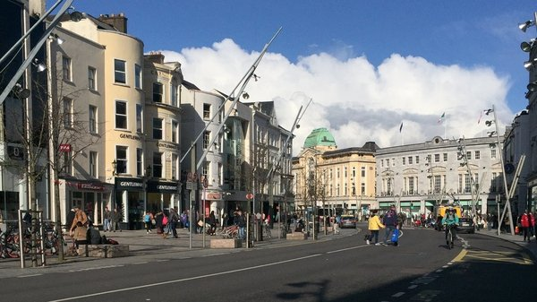 The incident happened on Cork's Patrick Street this afternoon