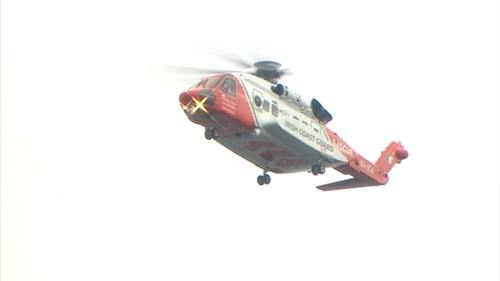 The R115 Coast Guard helicopter was dispatched to the scene off the cost of Co Kerry