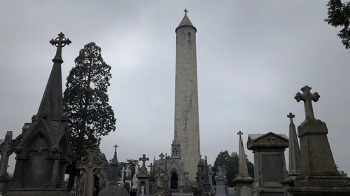 The tower, which is 55m tall, was built in 1855 to commemorate the Irish politician Daniel O'Connell