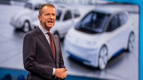 Volkswagen's chief executive Herbert Diess