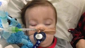 Alfie Evans is in a semi-vegetative state from a degenerative neurological condition