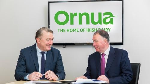 Ornua CEO designate John Jordan and chairman Aaron Forde
