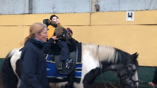 The natural rhythm of a horse's walk helped with Darragh's muscle strength and his digestion, his family say