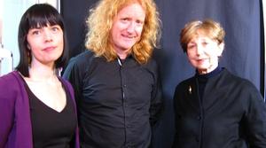 Doireann Ní Ghríofa, Louis de Paor and Olivia O' Leary.