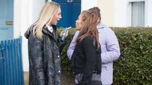 Louise and Tiffany have a confrontation on EastEnders