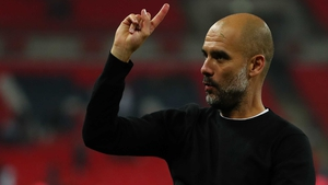 Guardiola has held up his hand
