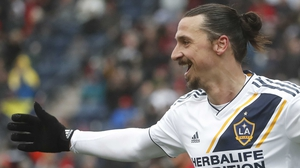 Zlatan Ibrahimovic celebrates his winner