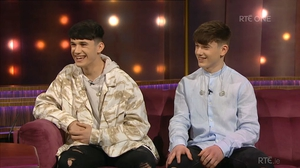 X Factor stars Sean and Conor Price appear on the Ray D'Arcy Show