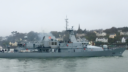 The LÉ Samuel Beckett is the first naval service ship to be deployed to the Mediterranean this year