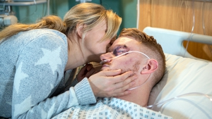 Gary pops the question to Sarah in hospital