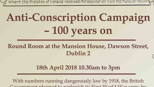 Event: 'Anti-conscription campaign: 100 years on'