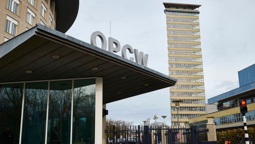 The headquarters of the OPCW in The Hague, Netherlands