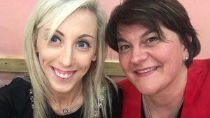 Arlene Foster posted a picture to Twitter with DUP MLA Carla Lockhart